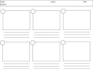 Animation Storyboard Template