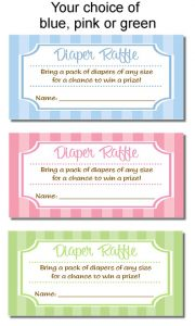 Baby Shower Diaper Raffle Tickets