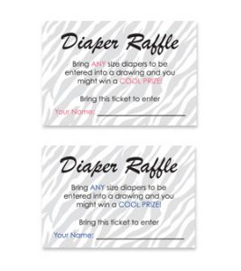 Baby Shower Diaper Raffle Tickets Free Template