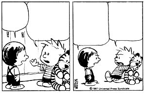 Blank Calvin and Hobbes Comic Strips without Text