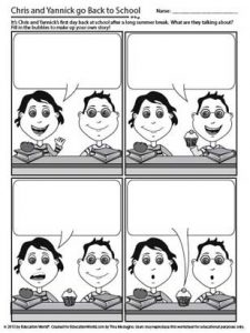 Blank Comic Strips with Pictures