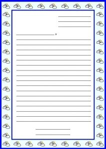 Blank Friendly Letter Writing Paper