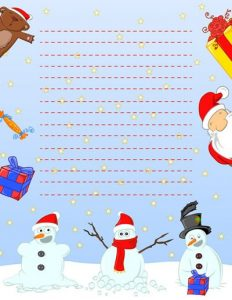 Christmas Paper to Write Letter to Santa