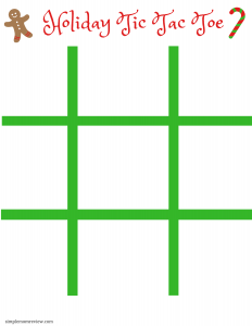 Christmas Tic Tac Toe Printables