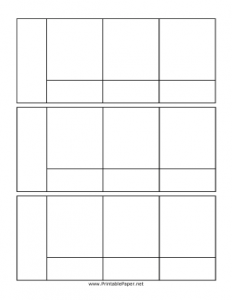 Comic Strip Template for Students