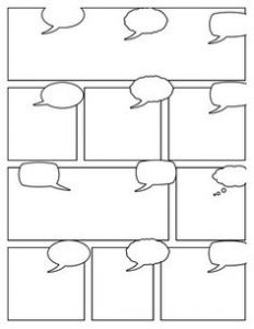 Comic Strip Template with Writing Space