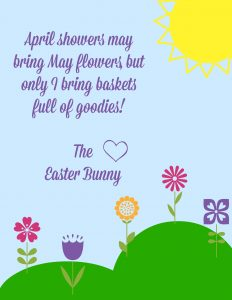 Cute Letter From Easter Bunny Printable