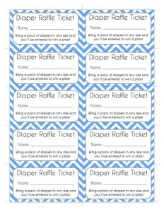Diaper Fund Raffle Tickets
