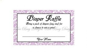 Diaper Raffle Ticket Free Printable