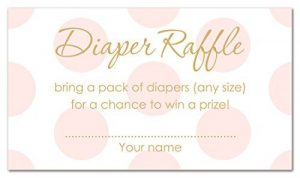Diaper Raffle Ticket Sign