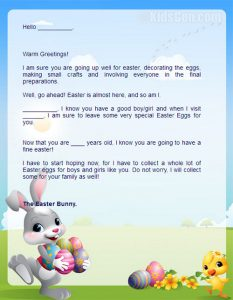 Easter Bunny Letter Examples