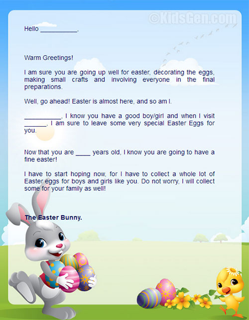 20 playful easter bunny letters