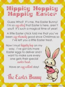 Easter Bunny Letter Ideas