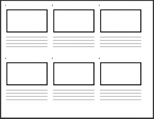 Fashion Fillable Storyboard Template