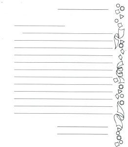 First Grade Letter Writing Paper Template