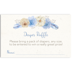 Floral Diaper Raffle Ticket