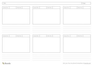 Free Corporate Video Storyboard Template