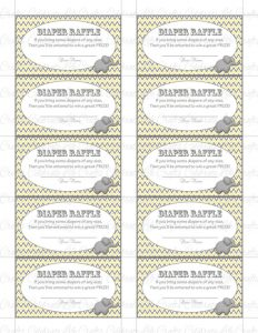Free Downloadable Diaper Raffle Tickets