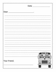 Free Friendly Letter Writing Paper