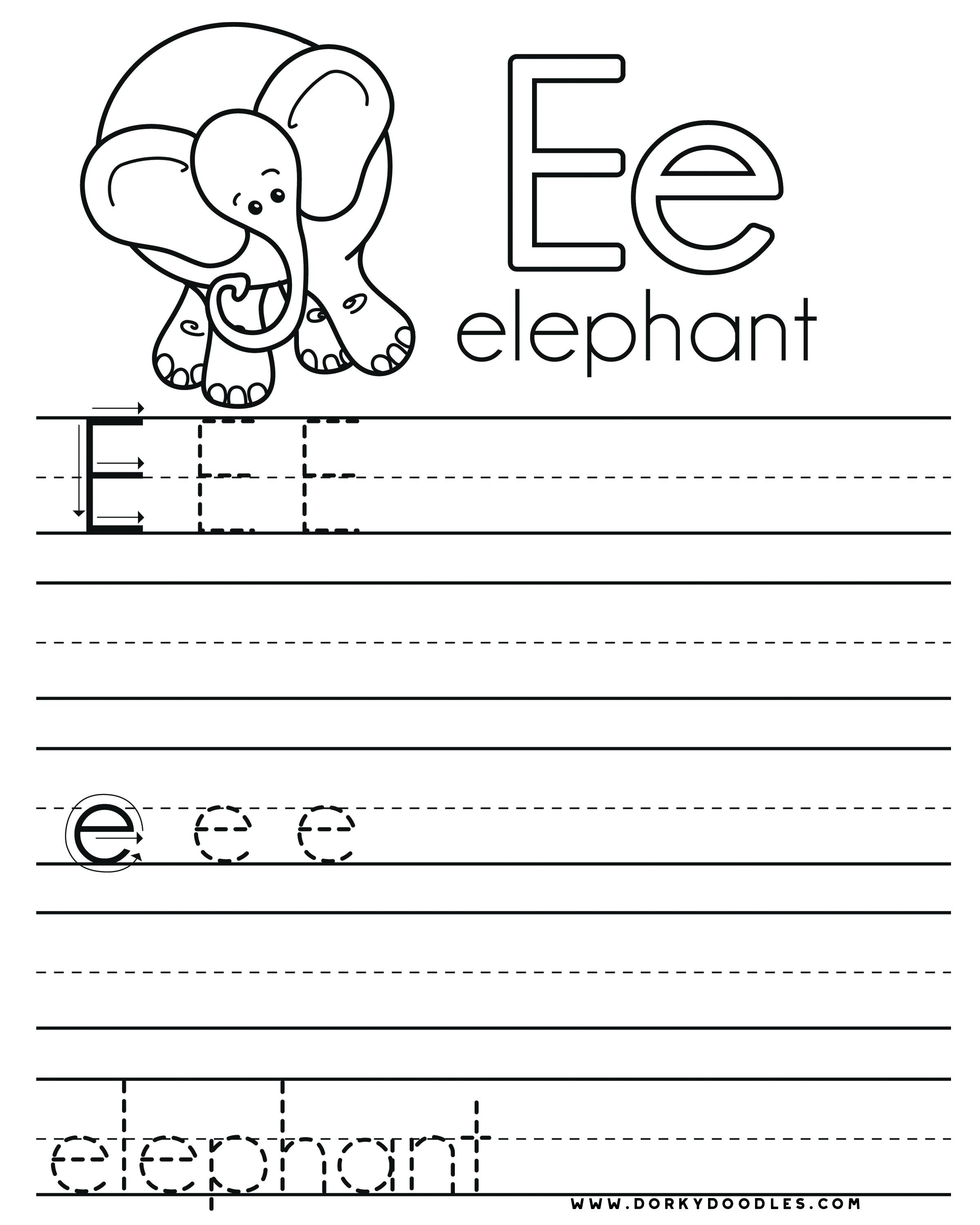 32 fun letter e worksheets. Black Bedroom Furniture Sets. Home Design Ideas