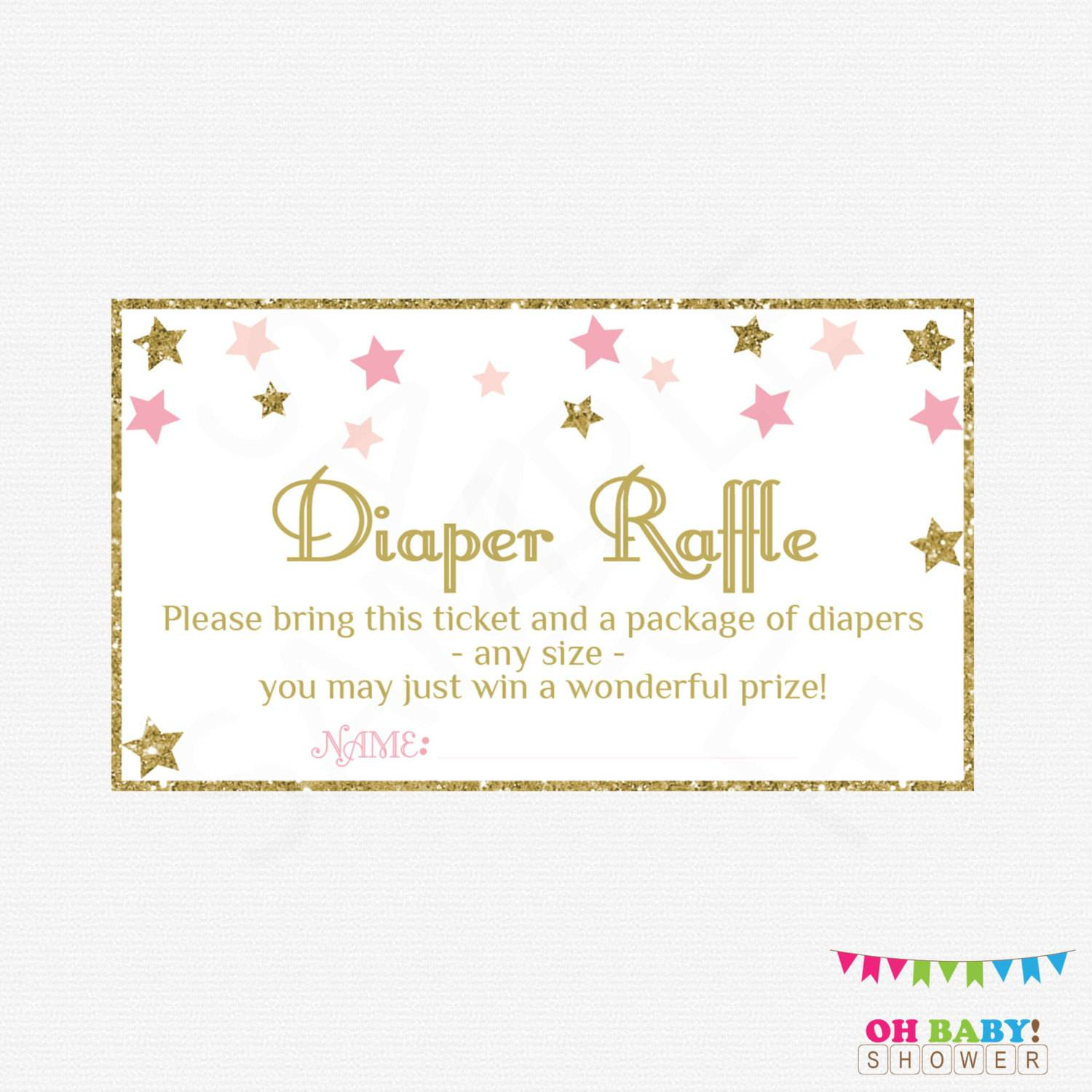 This is a picture of Epic Free Printable Diaper Raffle Tickets