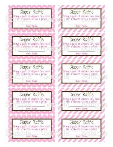 Revered image for free printable diaper raffle ticket template