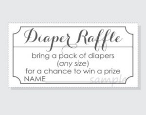 Free Printable Diaper Raffle Tickets Black And White