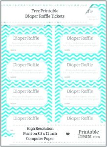 Free Printable Diaper Raffle Tickets for Boy Baby Shower