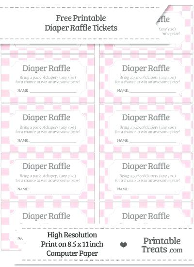 36 Cute Diaper Raffle Tickets Kittybabylove Com