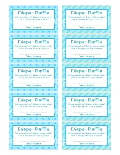 It is an image of Free Printable Diaper Raffle Ticket Template Download inside game
