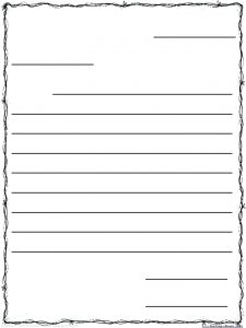 This is a graphic of Adaptable Letter Writing Paper