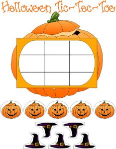Free Printable Halloween Tic Tac Toe