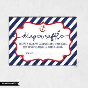 Free Printable Nautical Diaper Raffle Tickets