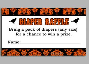 Halloween Diaper Raffle Tickets