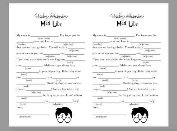 Harry Potter Mad Libs Printable