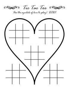 Heart Tic Tac Toe Printable