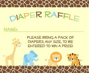 Jungle Diaper Raffle Tickets
