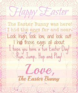 Letter From the Easter Bunny Scavenger Hunt