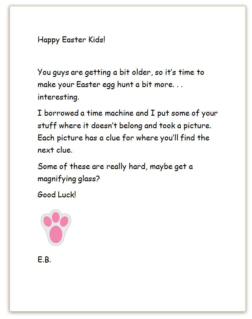 20 Playful Easter Bunny Letters | KittyBabyLove.com