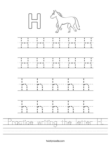 14 enjoyable letter h worksheets for kids. Black Bedroom Furniture Sets. Home Design Ideas