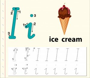 Letter I Ice Cream Worksheets