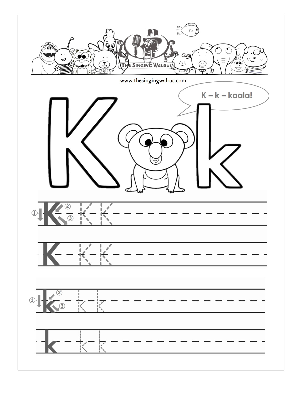 15 learning the letter k worksheets. Black Bedroom Furniture Sets. Home Design Ideas