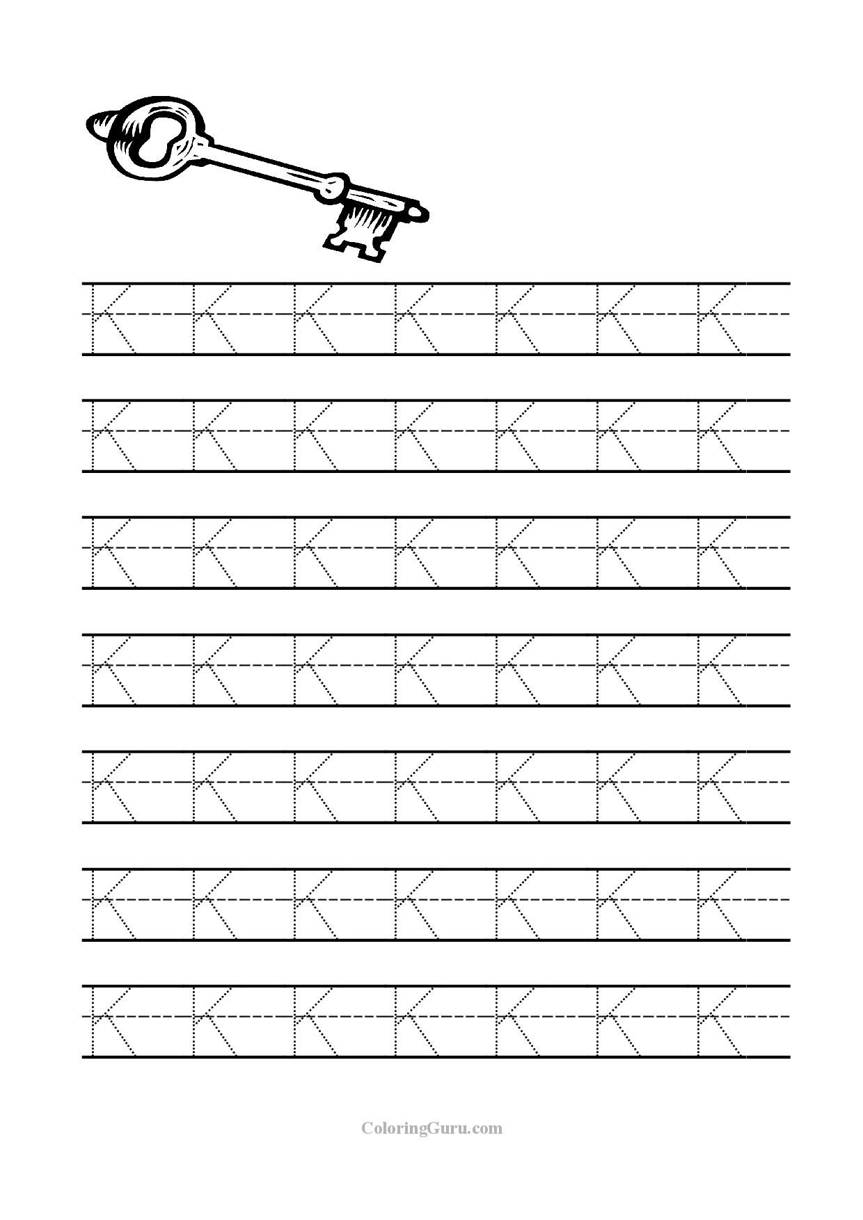 15 Learning the Letter K Worksheets | KittyBabyLove.com