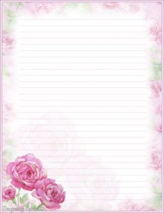 Letter Writing Paper Designs