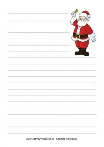 Letter to Santa Writing Paper Printable