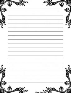 Lined Paper Template for Letter Writing