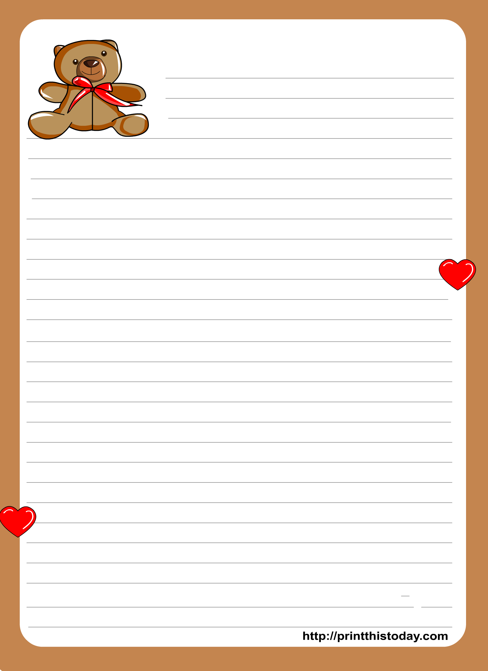 48 Pretty Letter Writing Paper | KittyBabyLove com