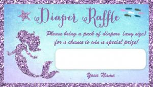 Mermaid Diaper Raffle Tickets