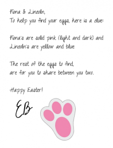 Official Easter Bunny Letter