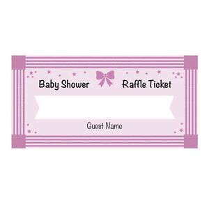 Pink Diaper Raffle Tickets
